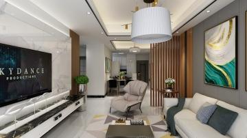 惠州美丽洲95㎡现代简约设计风格