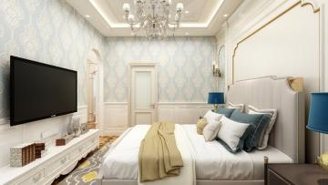 79平方欧式风格居室造价12万