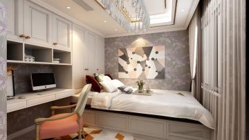 85平方欧式风格二居室造价12万