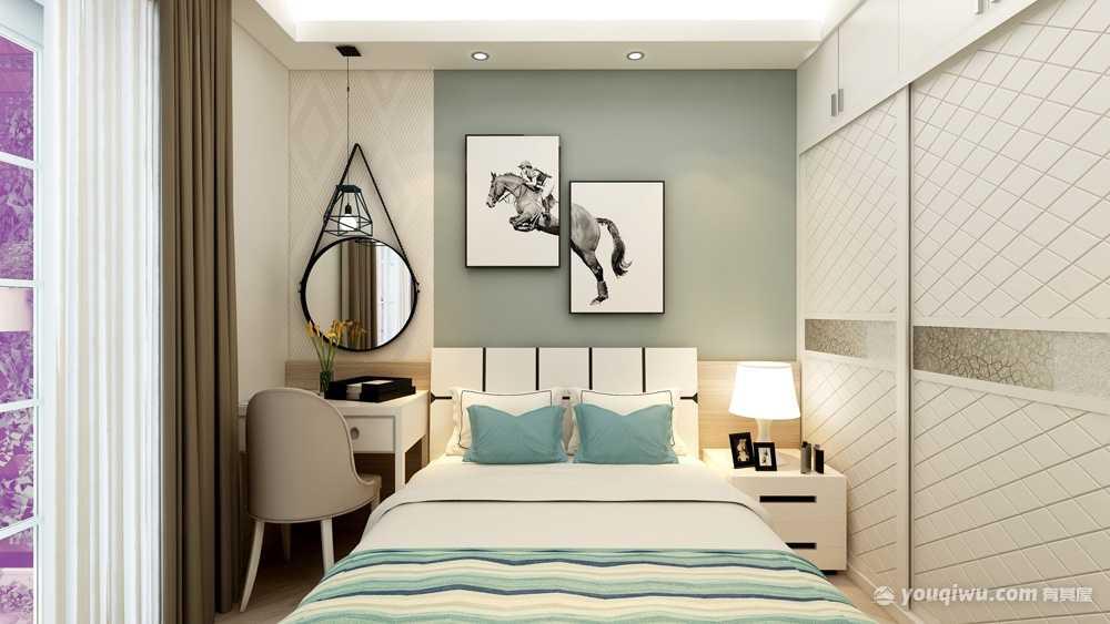 113平方简欧风格三居室造价15万