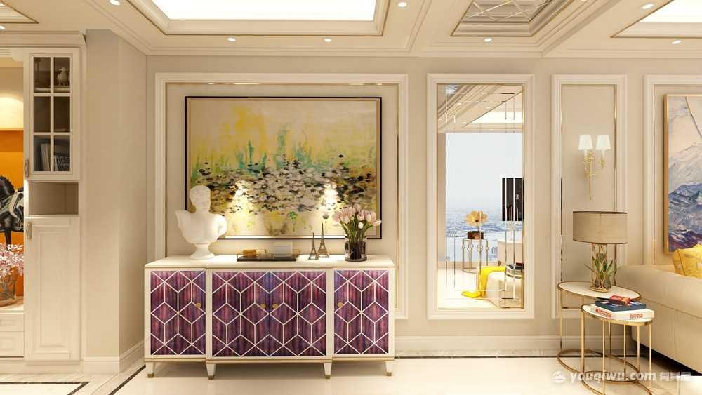 87平方欧式风格两居室造价12万