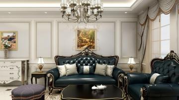74平方欧式风格三居室造价10万