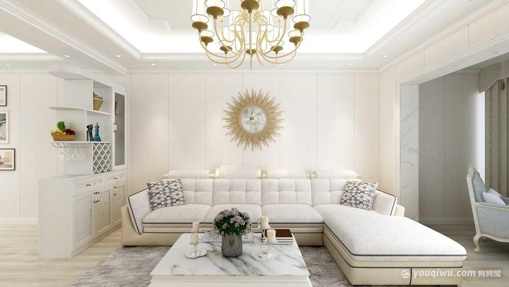 98平米歐式風格二居室造價12萬