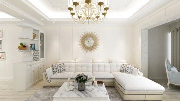 98平米欧式风格二居室造价12万
