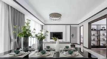 淡雅新中式三室两厅报价10万