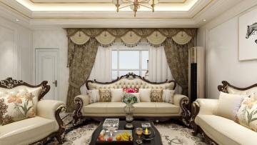 107平方欧式风格三居室造价15万
