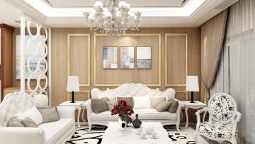 88平方欧式风格三居室造价12万