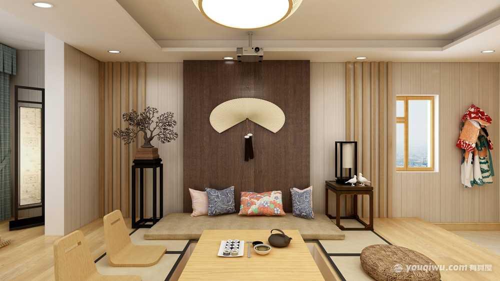 128平方日式风格三居室造价18万