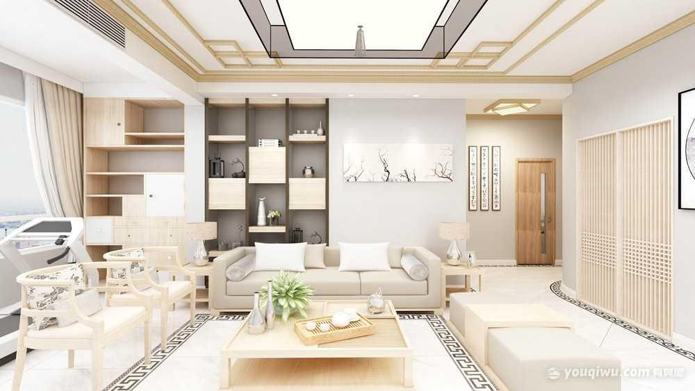 117平方日式风格三居室造价16万