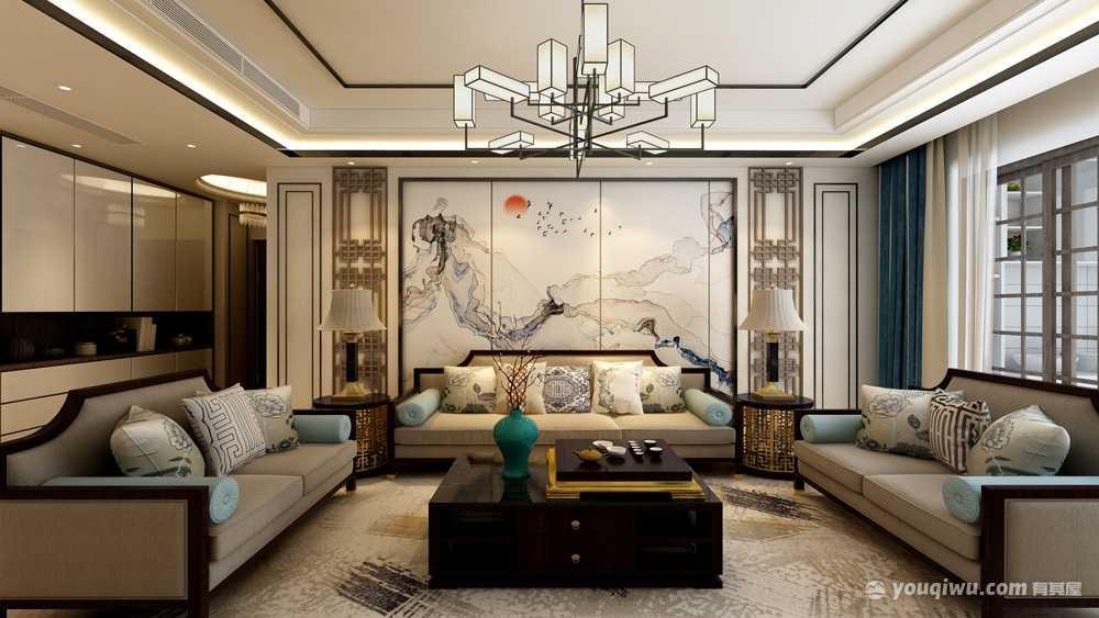155平米新中式风格三居室造价20万